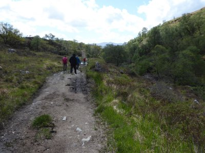 Walking through Gleann Dubh