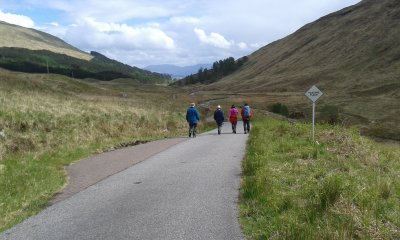 Walking down to Kingairloch
