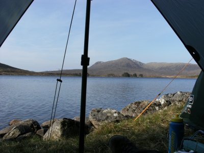 Camping by Loch Ossian