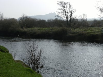 The Allan Water with Stirling Castle in the background