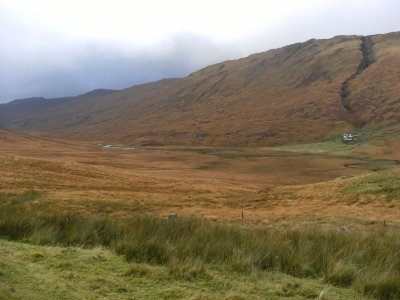 Looking back into Gleann Dubh